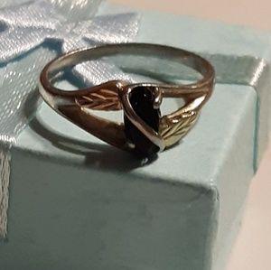 f714d86b1 Landstroms. Black Hills Gold 12k & Silver Onyx Ring Size 8.5. $102 $512